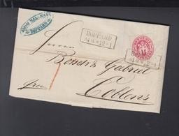 Preussen Faltbrief 1867 Boppard Nach Koblenz - Prussia