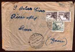 Girostamps54.- CARTA CIRCULADA DESDE MATARÓ A AMER /GIRONA/ - 1931-50 Briefe U. Dokumente