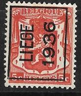 Luik 1936 Typo Nr. 311A - Typos 1936-51 (Petit Sceau)