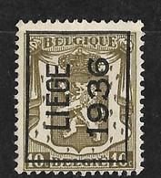 Luik 1936 Typo Nr. 315A - Typos 1936-51 (Petit Sceau)