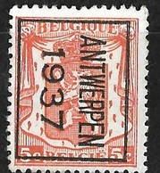 Antwerpen 1937 Typo Nr. 323B - Typos 1936-51 (Petit Sceau)