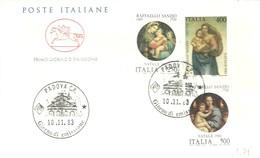 FDC 1983 ITALIA RAFAELLO SANZIO - Madonnas