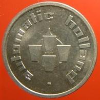 KB026-10a - AUTOMATIC HOLLAND 0 O'clock  - Dordrecht - WM 22.5mm - Koffie Machine Penning - Coffee Machine Token - Firma's