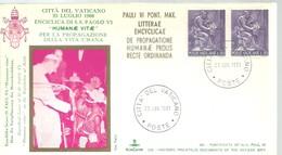 POSTMARKET  VATICANO 1968 - Cristianismo