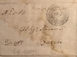 1814 FOSSOMBRONE PER BARCHI - Italy