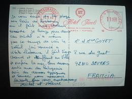 CP Pour La FRANCE EMA à 11 S 00 Du 18.9 80 RESTAURADORES LISBOA + HOTEL TIVOLI - 1910-... République