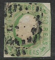 Portugal, 1862, 50 R, Yellow-green, Used - Used Stamps