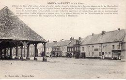 SIGNY LE PETIT. La Place (halle) - France