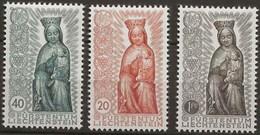 Liechtenstein 0291/293 (*) Sin Goma. 1954 - Liechtenstein