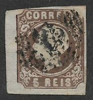 Portugal, 1862, 5R, Brown, Type II,   Used - 1862-1884 : D.Luiz I