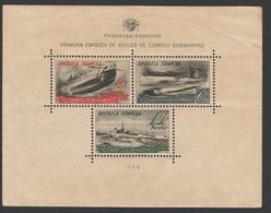 Spagna 1938 - Minifoglio Posta Sottomarina - Edifil S.781 - 1931-50 Nuevos & Fijasellos