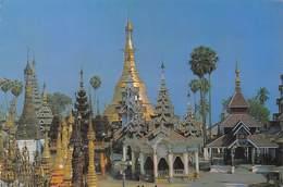 Myanmar - Burma - Birmanie - RANGOON - Naungdawgyi Pagoda From The Terrace Of The Shwedagon Pagoda - Timbres - Myanmar (Burma)