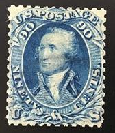 USA 1861 90c Oblit. Réparé Signé Dr Rieger (US Scott 72 Used Repaired / État-Unis D' Amerique - Oblitérés
