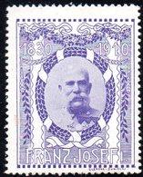 AUSTRIA 1830-1910 80TH BIRTHDAY EMPEROR KAISER FRANZ JOZEF JOSEPH PURPLE POSTER STAMP Vignettes Österreich KING HUNGARY - Österreich