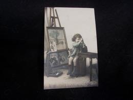 Arts . Enfant .Le Petit  Peintre .Beau Chevalet . Palette . Pinceaux . Boîte De Peinture. Avant 1903. Voir 2 Scans . - Arts