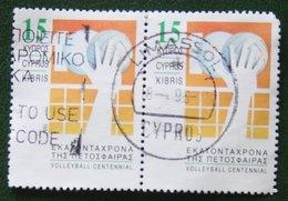 15c Volleyball 1995 Mi 867 Y&T - Used Gebruikt Oblitere CYPRUS ZYPERN CHYPRE - Gebraucht