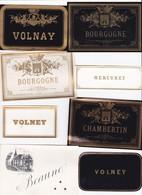 Lot De 16 Etiquettes Trés Anciennes De Vin BOURGOGNE - Imprimeur Vieillemard - Fin XIXéme RARE ! - Verzamelingen, Voorwerpen En Reeksen