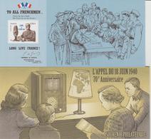 Bloc Souvenir 48 Appel Du 18 Juin Neuf Avec Carton - Foglietti Commemorativi