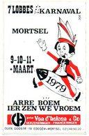 Mortsel    7e Lobbes Karnaval  1979  Sticker  Autocollant - Autocollants