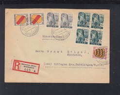 Saar R-Brief 1947 MiF Mit Allgemeinausgaben Höcherberg - Zona Francese