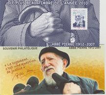Bloc Souvenir 66 Abbé Pierre Neuf Avec Carton - Blocs Souvenir