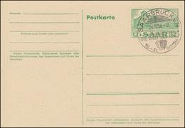 Saarland Postkarte P 41 Hauptpostamt, SSt SAARBRÜCKEN Die Welt Der Frau 24.10.54 - Germany