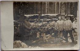 CPA Carte Photo Guerre 14-18 Militaire BCA Alpins Fusil Chauchat WW1 VOSGES ? - Oorlog 1914-18
