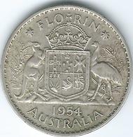 Australia - Elizabeth II - Florin / 2 Shillings - 1954 (KM54) - Monnaie Pré-décimale (1910-1965)