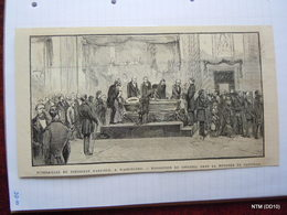 French News Paper Cutting. Scene Of Funeral Of James Abraham Garfield The 20th President Of USA - Newspapers