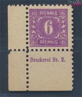 Sowjetische Zone (All.Bes.) 9a Mit Druckereizeichen Geprüft Postfrisch 1945 Mecklenburg 1.Ausgabe (7510439 - Zone Soviétique