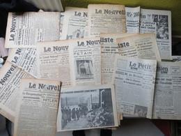 Rare Et Beau Lot De 32 Journaux 2 ème Guerre Mondiale Années 1941 1942 WW2 Ww1 - MISE A PRIX 1€ ! Pensez à Regrouper Vo - Newspapers