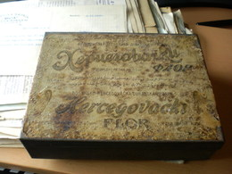 Old Tobacco Box Tin Hercegovacki Flor Bosansko Hercegovacka Duhanska Uprava Rare RRR - Boites à Tabac Vides