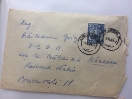 3 TRUCK STAMP ON COVER CRAIOVA ROMANIA BUCURESTI 1961 - 1948-.... Republiken