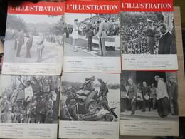 Lot De Grands Magazines L'ILLUSTRATION  X 12 / 1938 - 1939 - 1941 WW2 - Troupes Allemandes - Vive Pétain - Militaire - L'Illustration