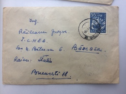 4 TRUCK STAMP ON COVER CRAIOVA ROMANIA BUCURESTI 1961 - 1948-.... Republiken