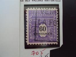 """A Partir De 1945 - Timbre Oblitéré N°705   """"Deuxième Série ARC DE TRIOMPHE, 60c Violet """"   Net   0.15 - 1944-45 Arc De Triomphe"""
