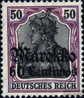 German. Post Morocco 53II War Pressure With Hinge 1918 Germania-Print - Deutsche Post In Marokko