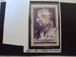 """A Partir De 1945 - Timbre Oblitéré N° 793  """" Louis Braille   """"   Net   0.15 - France"""