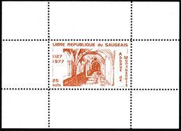 Rarement Proposé: Le Timbre De La Libre République Du Saugeais En Feuillet Neuf 1977 - Errors & Oddities