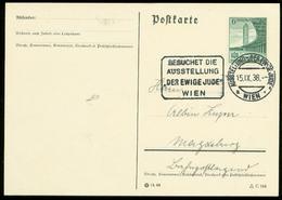 P0732 - DR Postkarte : Gebraucht Mit Sonderstempel Ausstellung , Der Ewige Jude Wien 1938 - Germany
