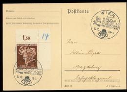 P0731 - DR Eckrand Auf Postkarte : Gebraucht Mit Sonderstempel Wien 1941 - Germany