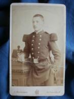 CDV Photo Mourgeon à Paris - Militaire Soldat Du 71e RI Circa 1890-95 L431 - Photographs