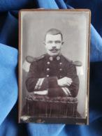 CDV Photo Louis à Paris - Militaire Sergent Major, Service Santé (pharmacien ?), Vers 1890 L431 - Oud (voor 1900)