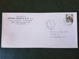 (25080) STORIA POSTALE ITALIA 1985 - 1981-90: Storia Postale
