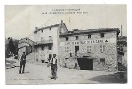 07 Dép.- L'ARDECHE PITTORESQUE- St-Martin-de-Valmas - Place Basse. C.Artige Fils, éditeur, Aubenas (Ardèche). Carte Post - Saint Martin De Valamas