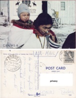 Eskimo Mother And Child At Frobisher Bay N:W:T Canada - America