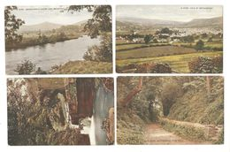 FOUR OLD POSTCARDS OF ABERGAVENNY MONMOUTHSHIRE WALES - Monmouthshire