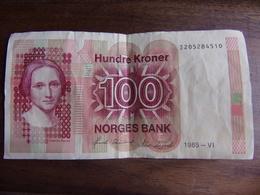 NORVEGE Billet 100 Couronnes 1985 - Norvège