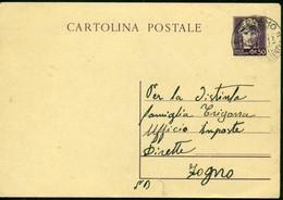V9127 ITALIA LUOGOTENENZA 1946 Cartolina Postale 50 C. Italia Turrita, Fil. C120, Interitalia 119, Senza Francobolli - Storia Postale