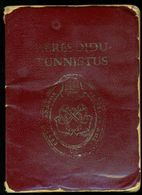 ESTONIA CIVIL MARINE SEAMAN EXTERNAL PASSPORT 1995 EXPIRED PASSEPORT SEA SAILOR SHIP FOREIGN TRAVEL RECORDS CERTIFICATE - Documentos Históricos